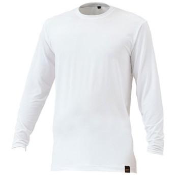 ZETT(ゼット) ライトフィットアンダーシャツ 丸首長袖 BO8410A ホワイト (1100) サイズ:O
