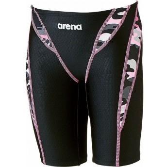 ARENA アリーナ AQUA RACING.Jr ジュニアハーフスパッツ ARN7089MJ カラー ブラック×ピンク