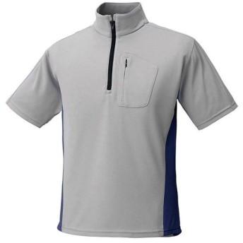 PUROMONTE(プロモンテ) アウトドア トリプルドライカラット ライトウェイト 半袖ジップシャツ MEN'S グレー×ネイビー XL