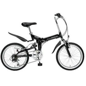 MyPallas/マイパラス M-207-BK 折畳自転車 20型・6段ギア・Wサス (ブラック) ※沖縄・離島配送不可