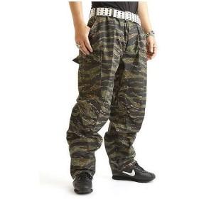 アメリカ軍 BDU カーゴパンツ /迷彩服パンツ 〔 XSサイズ 〕 YN521007 タイガー 〔 レプリカ 〕