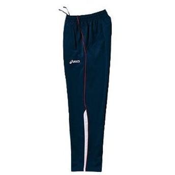 アシックス asics ジャムジー asパンツ xat267 カラー:ネイビー×スパークリングレッド 5022 training suit ウェア