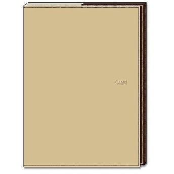 ダイゴー アポイントステーショナリー 手帳カバー A5 折りたたむタイプ ベージュ N1814