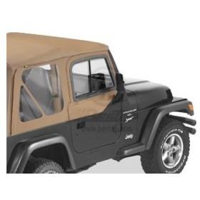 US直輸入正規品 BESTOP(べストップ) アッパードアスライダー Jeep Wrangler (ジープ ラングラー) 1997-2006年 スパイスカラー