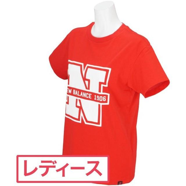 ニューバランス New Balance METRO ビッグNロゴプリント半袖Tシャツ レディス