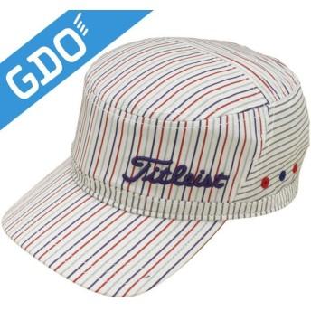 タイトリスト TITLEIST ゴルフウェア メンズ 帽子 ストライプワークキャップ HJ5CWK 帽子