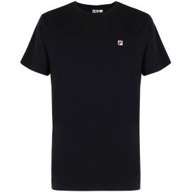 《期間限定 セール開催中》FILA HERITAGE メンズ T シャツ ブラック S コットン 100% Seamus Tee SS