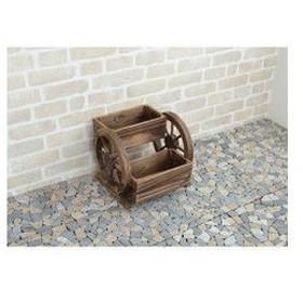ティアンドエヌ  木製プランター花車輪/M673