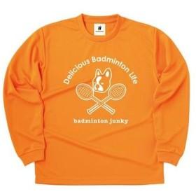 バドミントンジャンキー Badminton メンズ デリシャスバドミントンライフ ロングポリTEE バドミントン ウェア 長袖 Tシャツ 父の日