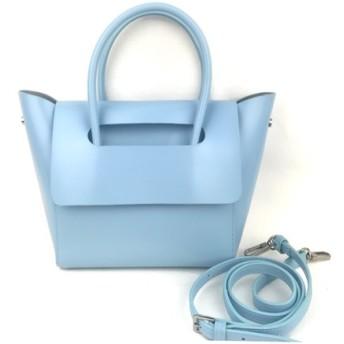 【夏数量限定】高級牛革 mini ミニトートバッグ ショルダーバッグ Sky blue 即納