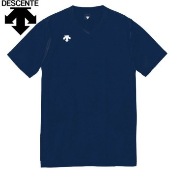 【2枚までメール便送料無料】デサント 半袖ゲームシャツ バレーボールウェア メンズ レディース ジュニア DSS-4321-NVY