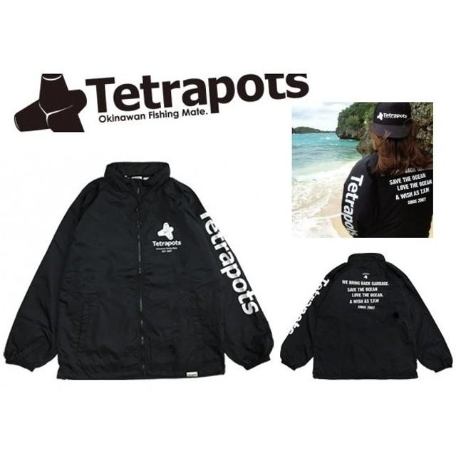 (ポイント3倍) テトラポッツ ロゴジャケット TPO-011 ブラック Lサイズ (SP)