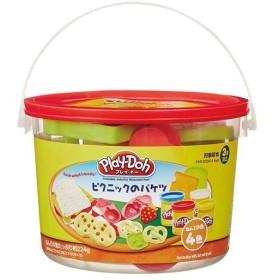 プレイドー(Play Doh) ねんど 4色入り ピクニックのバケツ 23414P おもちゃ 粘土 知育玩具 ままごと ごっこ遊び