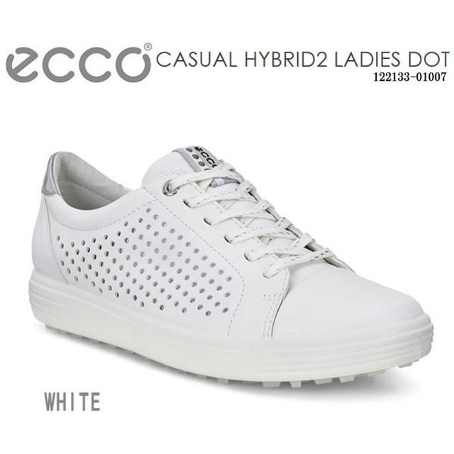 ゴルフシューズ エコー ecco 122133-01007 CASUAL HYBRID2 Ladies Dot ホワイト