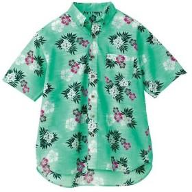 アイトス(AITOZ) ボタンダウンアロハシャツ(カジーマ)(男女兼用) 015/グリーン AZ-56110 ワークウェア 作業着