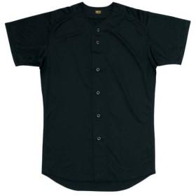 ゼット(ZETT) ユニフォームシャツ(フルオープン) Z BU1071 1900 ブラック 野球 ウェア ユニホーム