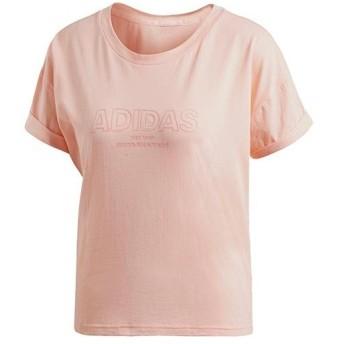 アディダス(adidas) レディース W ESS オール キャップ Tシャツ ヘイズコーラルS17 EZZ77 CZ5693 トレーニングウェア スポーツウェア 半袖
