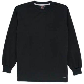 自重堂 長袖Tシャツ 044/ブラック 85224 作業着 仕事着 作業服 ワークウェア トップス