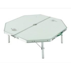 ONWAY オンウェー ミドルオクタゴンテーブル2 OW-8080-2 ホワイト アウトドアテーブル アウトドア 釣り 旅行用品 キャンプ ローテーブル アウトドアギア