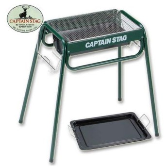 キャプテンスタッグ(CAPTAINSTAG) バーベキュー コンロ スライドグリルフレーム450(グリーン) M-6486 キャンプ バーベキューコンロ アウトドア