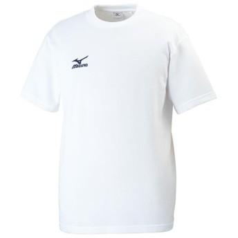 【在庫処分】ミズノ Tシャツ ホワイト×ネイビー Mizuno 32JA6157 71