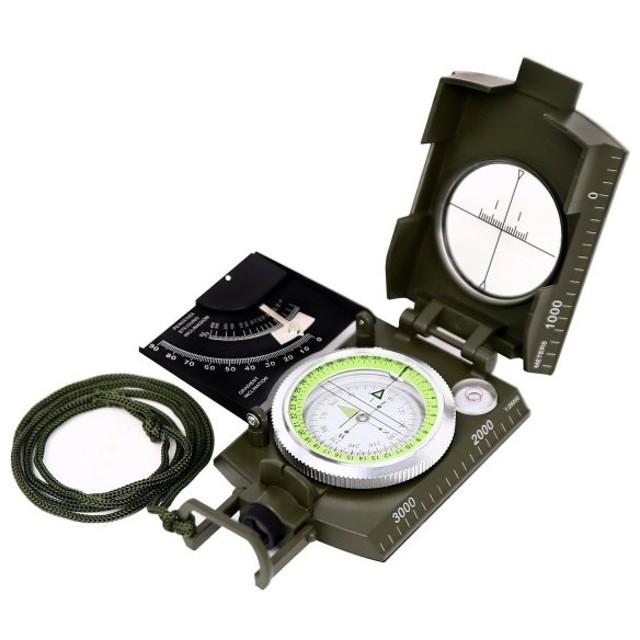 65b1496490 方位磁石 方位磁針 コンパス 蓄光 ミリタリー 軍用モデル 折り畳み式 軽量 防水 コンパクト アウトドア 登山