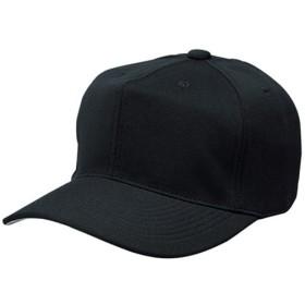 エスエスケイ(SSK) 角ツバ6方型ベースボールキャップ BC062 ブラック 野球 帽子