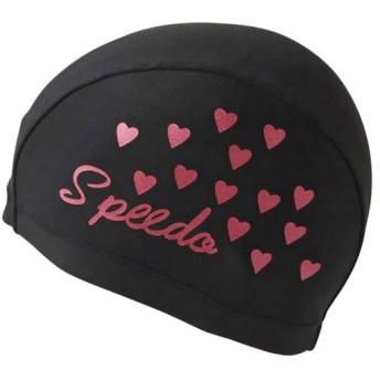 スピード(speedo) トリコットキャップ (F)フリーサイズ SD97C66 K ブラック スイムキャップ 水泳帽