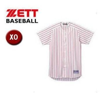 ZETT/ゼット  BU521-1164 フルオープン ストライプメッシュシャツ 【XO】 (ホワイト×レッド)
