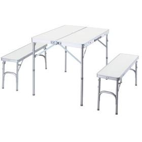バンドック(BUNDOK) キャンプ テーブル&ベンチ セット BD-230 バーベキュー アウトドア 机 椅子 チェア 折りたたみ