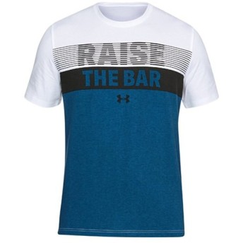 アンダーアーマー(UNDER ARMOUR) チャージド コットン Tシャツ UA Raise the Bar SS 100:WHT/MRB/BLK 1305665 トレーニングウェア 半袖 メンズ