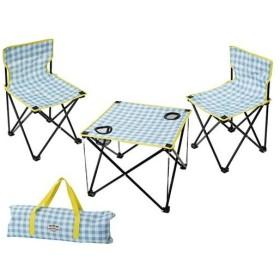 テーブル & チェアー セット マミーフィールド ギンガムチェック 400836501 雑貨 アウトドア キャンプ バーベキュー レジャー 折りたたみ 持ち運び