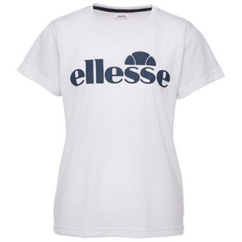 エレッセ(ellesse) プラクティスT ホワイト ETS1610L W テニスウェア トレーニング 練習着 レディース Tシャツ