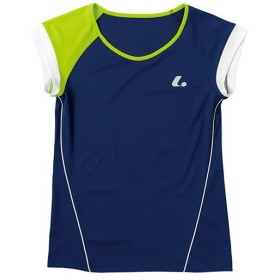 ルーセント(LUCENT) レディース テニス ゲームシャツ (襟なし) ネイビー XLH2286 NV テニスウェア ソフトテニスウェア トレーニングウェア