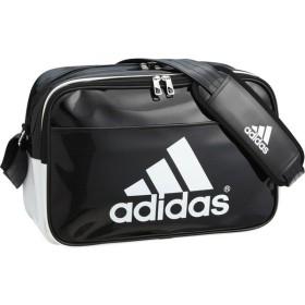アディダス 【男女兼用 エナメルバッグ】 BASIC エナメル M BLK/WHT adidas BIP40 AP3362 サッカー、フットサル サッカー用バッグ