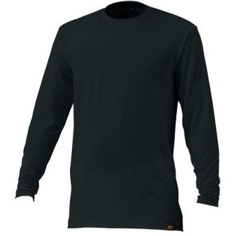 ゼット ライトフィットアンダーシャツ 少年用丸首長袖 ブラック ZETT BO8410JA 1900