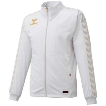 ヒュンメル(hummel) UT-ウォームアップジャケット HAT2062 ホワイト サッカー ハンドボール トレーニングウェア ジャージ