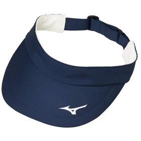 ミズノ(MIZUNO) メンズ レディース テニス バイザー ネイビー 62JW810114 サンバイザー キャップ 帽子 日焼け対策