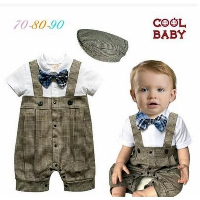 2b0d3a6f31209 ベビー子供服0歳-2歳男の子兼用洋服タキシード&帽子セット フォーマル ...