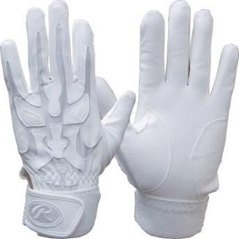 【送料無料】【在庫処分】ローリングス バッティング手袋 WAJIKARA ホワイト×ホワイト Rawlings RBG1WA 0101