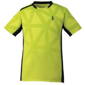 ゴーセン(GOSEN) テニス ゲームシャツ ライムイエロー T1726 54 テニスウェア バドミントンウェア Tシャツ 半袖 トップス メンズ レディース