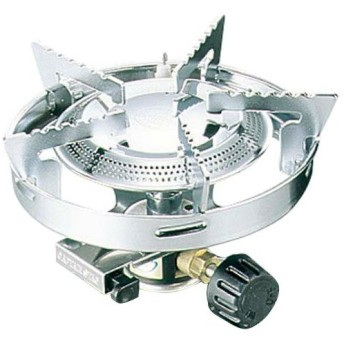 キャプテンスタッグ(CAPTAINSTAG) バーベキュー 小型ガスバーナーコンロ (ケース付) M-7901 圧電点火装置付