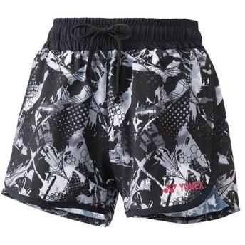 ヨネックス(YONEX) ウィメンズショートパンツ ブラック/シルバーグレー 25024 182 テニスウェア テニス・バドミントン レディース ゲームパンツ