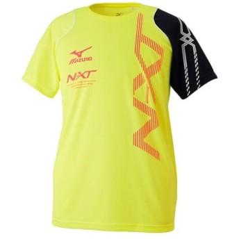 ミズノ(MIZUNO) N-XT Tシャツ セーフティーイエロー×D.ネイビー 32JA702031 メンズ トレーニングウェア スポーツウェア 半袖 トップス