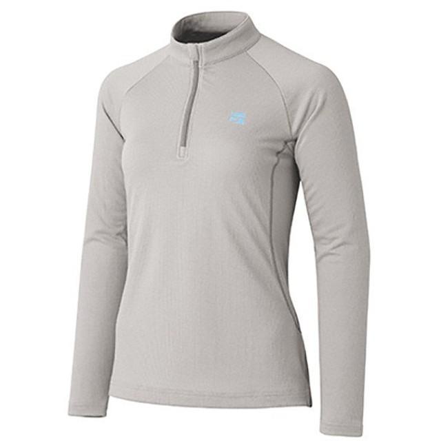 10b7fa3f5499c finetrack ファイントラック ラミースピンドライジップネック Ws PA FMW0243 女性用 グレー シャツ ポロシャツ