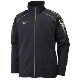 ミズノ(MIZUNO) メンズ レディース ジャージ トップス MC ウォームアップシャツ ブラック×ブラック×ゴールド 32JC801090 トレーニングウェア 上着 防寒