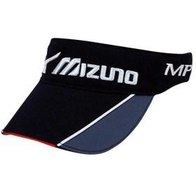 ミズノ(mizuno) メンズ ゴルフ バイザー ブラック×グレー 56cm-60cm 52MW6A2190 ゴルフウェア 帽子 キャップ