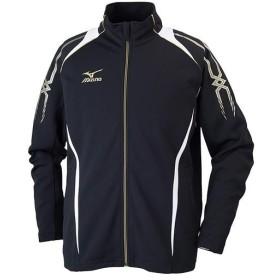 ミズノ(MIZUNO) ウォームアップシャツ ブラック×ホワイト 32JC601009 スポーツウェア アウター ジャケット メンズ レディース