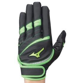 ミズノ <スプレンダー>手袋(左手/右打者用)片手用 (レディース) ブラック×グリーン Mizuno 1EJEA122 35