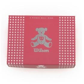 ウイルソンゴルフ BEAR3 (レディースゴルフボール) BEAR3 ピンク 12個入 (Lady's)